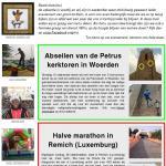 Bekijk onze nieuwsbrief over abseilen van een kerktoren, de halve marathon, beach games op het strand  en een levend schilderij opening in Den Haag.