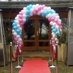 ballonnenboog wit, roze, blauw
