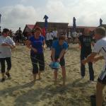 dienblad race op strand