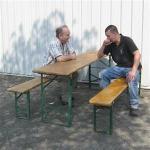 tafel en banken set huren