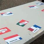 WK vlaggen race voor voetbal spel