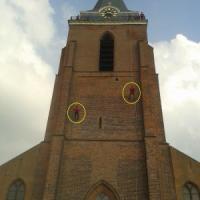 abseilen van kerktoren