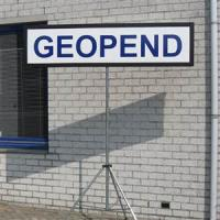 geopend bord