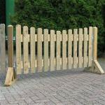 houten afzetting huren