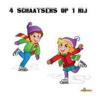 4 schaatsers op 1 rij